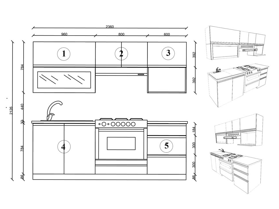Muebles de cocina medidas estandar idea creativa della for Medidas estandar arquitectura