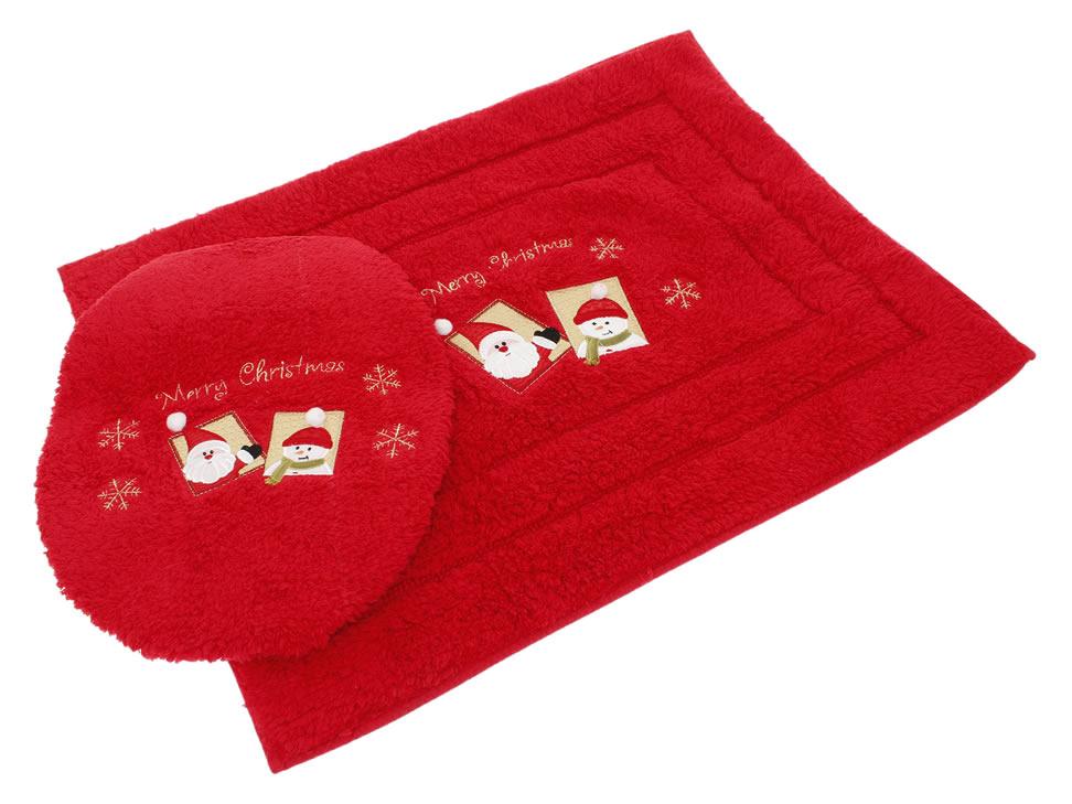 Juegos De Baño Rojos:Juego de Baño Bordado Raya Rojo Happy Santa-Liverpool es parte de MI