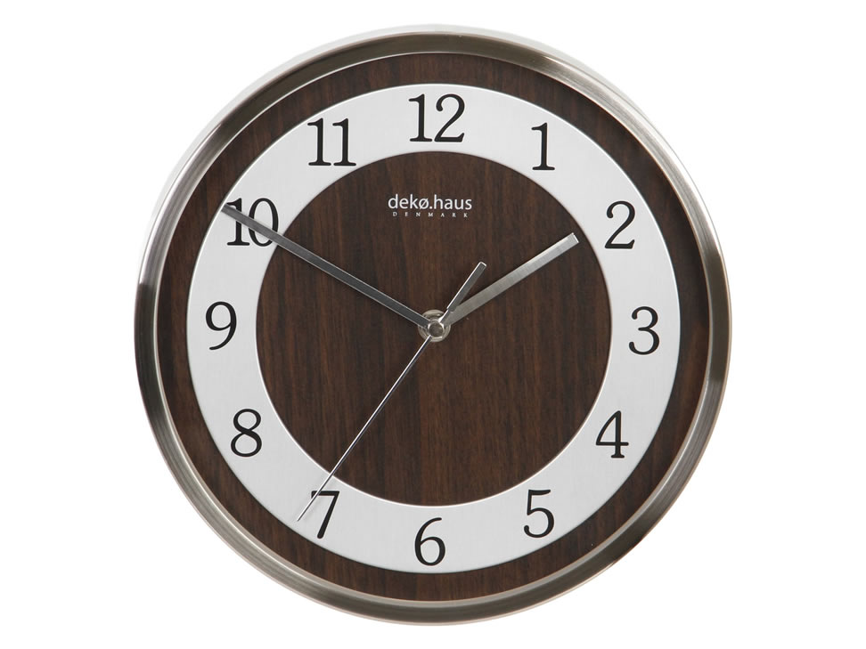 Decoregalo reloj de pared contempor neo cromado caf a278 - Reloj decorativo de pared ...