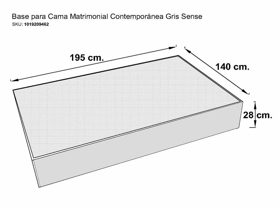 Cama matrimonial medidas ideas de disenos for Medidas de king size y queen size